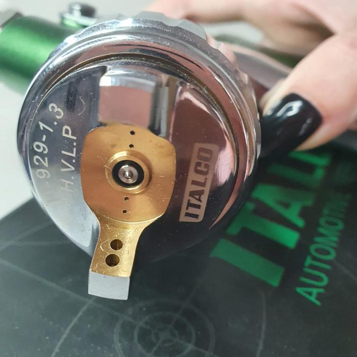 Pistol de vopsit, Italco H-929 HVLP, cupa plastic 600 ml, duza 1.3 mm, consum aer incepand cu 340 l/min [8]