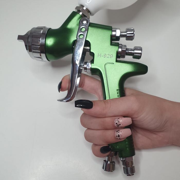 Pistol de vopsit, Italco H-929 HVLP, cupa plastic 600 ml, duza 1.3 mm, consum aer incepand cu 340 l/min [7]