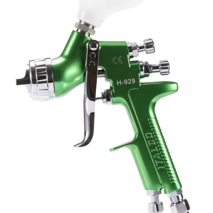 Pistol de vopsit, Italco H-929 HVLP, cupa plastic 600 ml, duza la alegere, consum aer incepand cu 147 l/min [1]