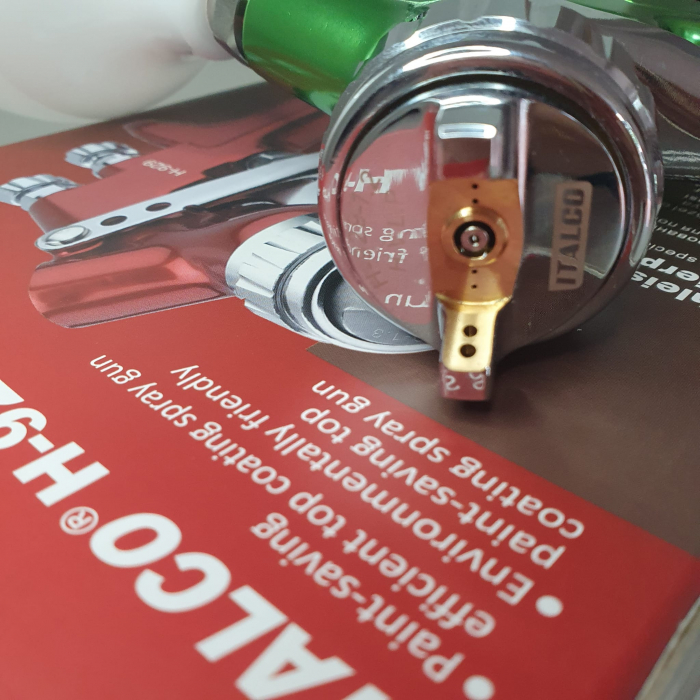 Pistol de vopsit, Italco H-929 HVLP, cupa plastic 600 ml, duza la alegere, consum aer incepand cu 147 l/min [4]