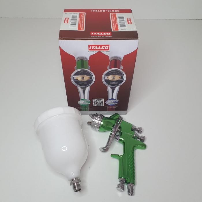 Pistol de vopsit, Italco H-929 HVLP, cupa plastic 600 ml, duza la alegere, consum aer incepand cu 147 l/min [5]