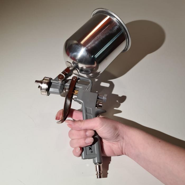 Pistol de vopsit, Matrix 573159, cana metalica 1 litru, duza 1.2, 1.5 si 1.8, consum aer 75- 230 l/min [2]