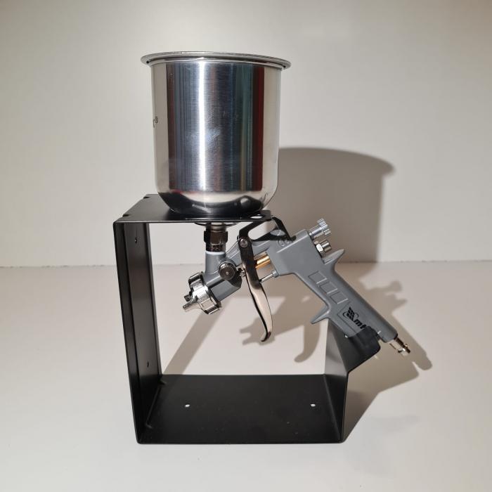 Pistol de vopsit, Matrix 573159, cana metalica 1 litru, duza 1.2, 1.5 si 1.8, consum aer 75- 230 l/min [5]
