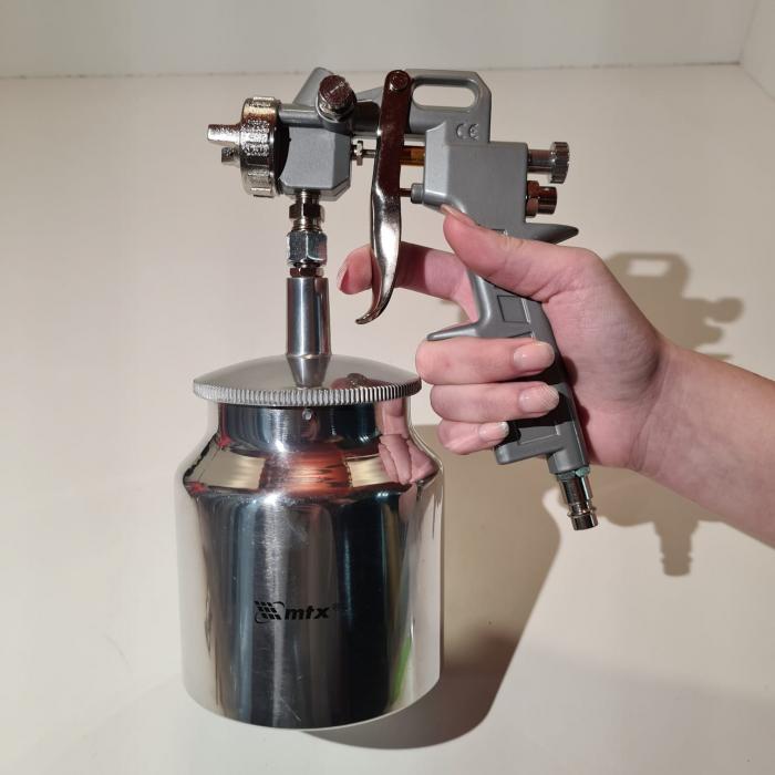 Pistol de vopsit, Matrix 573179, cana jos metalica 750 ml, duza 1.2, 1.5 si 1.8 mm [6]