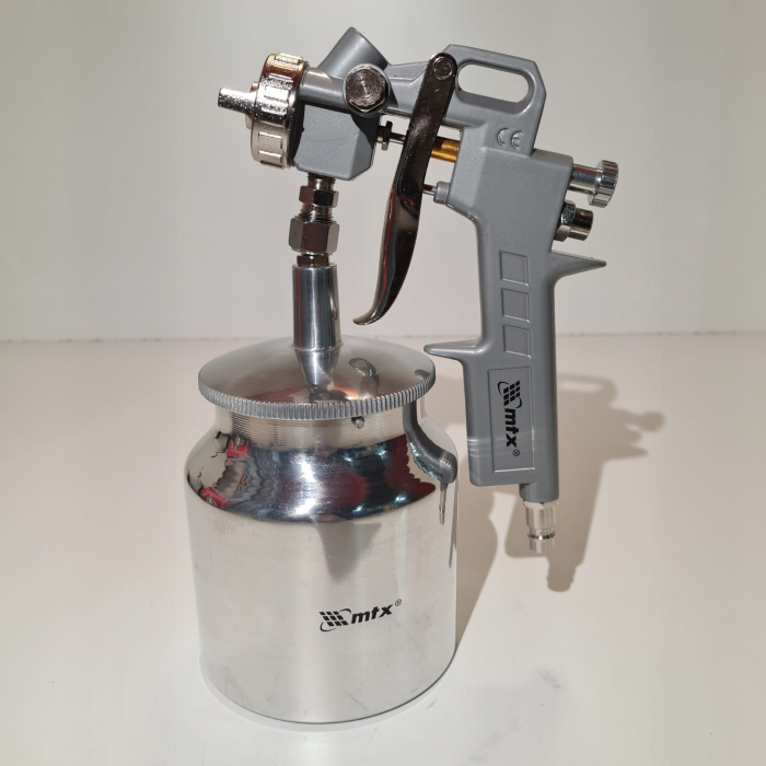 Pistol de vopsit, Matrix 573179, cana jos metalica 750 ml, duza 1.2, 1.5 si 1.8 mm [3]