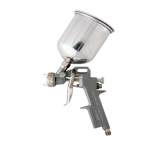 Pistol de vopsit, Matrix 573149, cana metalica 600 ml, duza 1.2, 1.5 si 1.8 mm, consum aer 75 - 230 l/min [0]