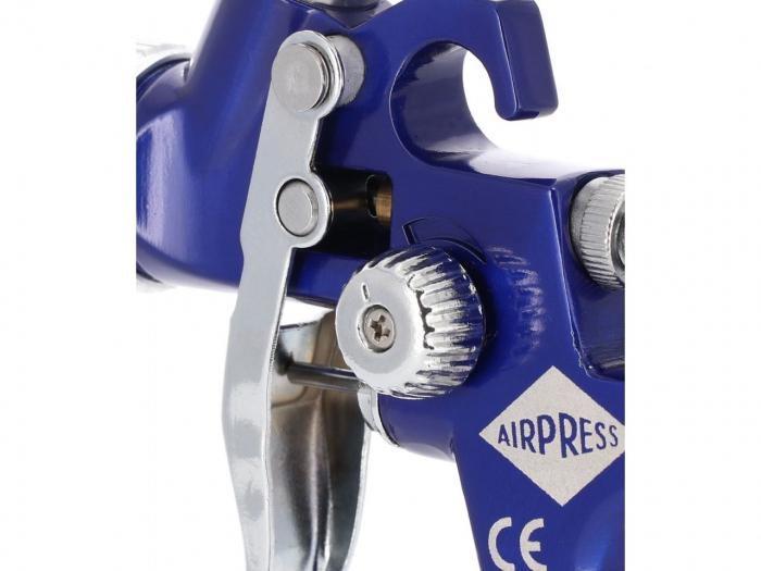Pistol de vopsit pentru retus, Airpress 45102, cana plastic 125 ml, duza la alegere, consum aer 29-99 l/min [3]