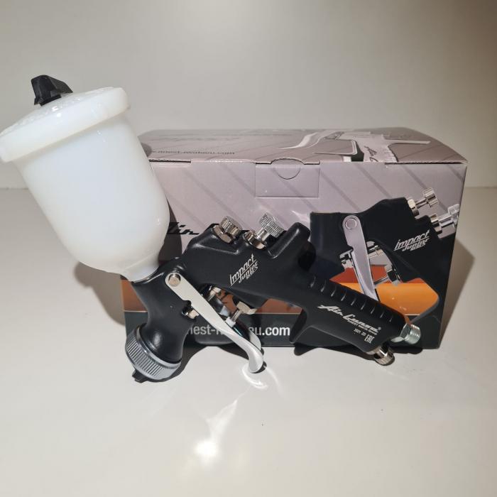 Pistol de vopsit pentru retus, Anest Iwata AZ4 - HTE Impact Junior Air Gunsa, cupa plastic 200 ml, duza 0.8 - 1.8 mm, consum aer 50 - 275 l/min [6]