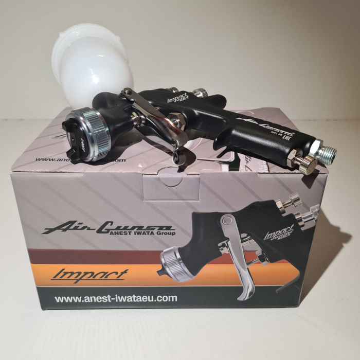 Pistol de vopsit pentru retus, Anest Iwata AZ4 - HTE Impact Junior Air Gunsa, cupa plastic 200 ml, duza 0.8 - 1.8 mm, consum aer 50 - 275 l/min [5]