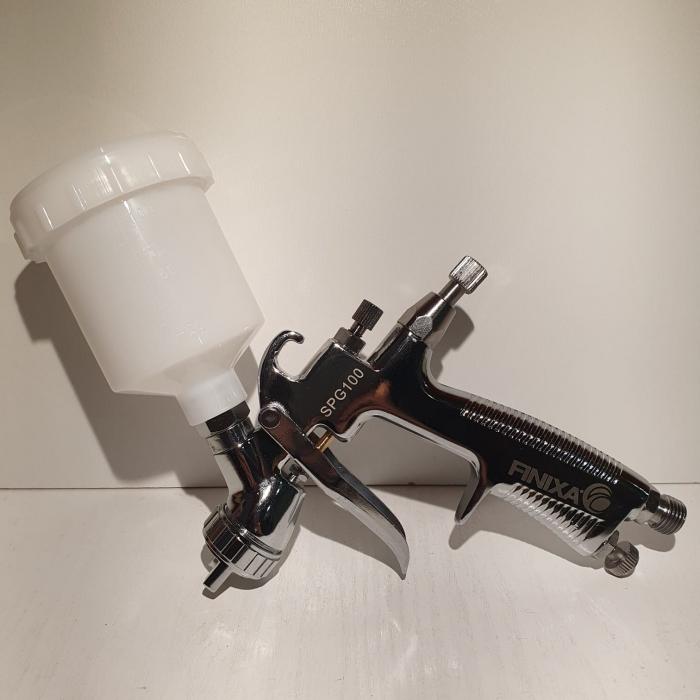 Pistol de vopsit pentru retus, Finixa SPG 100, cupa plastic 100 ml, consum aer 75 l/min [1]