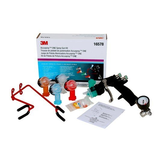 Pistol de vopsit pulverizare 3M™ Accuspray™ HVLP ONE Spray Gun Kit, PN16578 + 5 capete de atomizare in set 0
