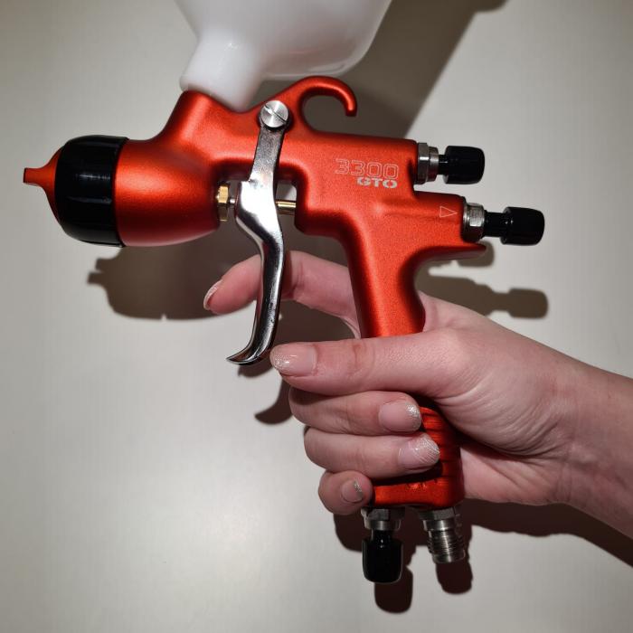 Pistol de vopsit Sagola 3300 GTO Car Tech LAC + Manometru 12