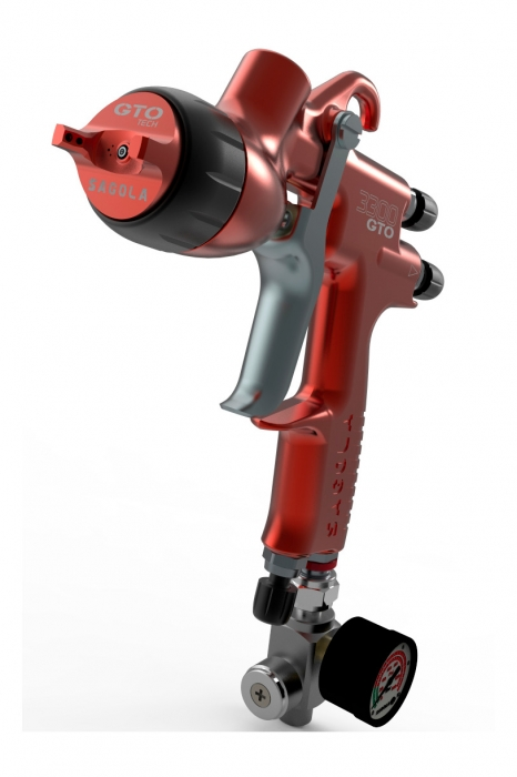 Pistol de vopsit Sagola 3300 GTO Car Tech LAC + Manometru 8