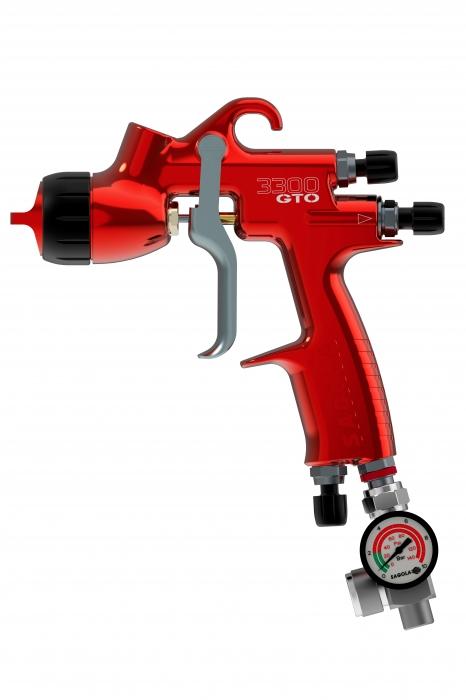 Pistol de vopsit Sagola 3300 GTO Car Tech LAC + Manometru 6