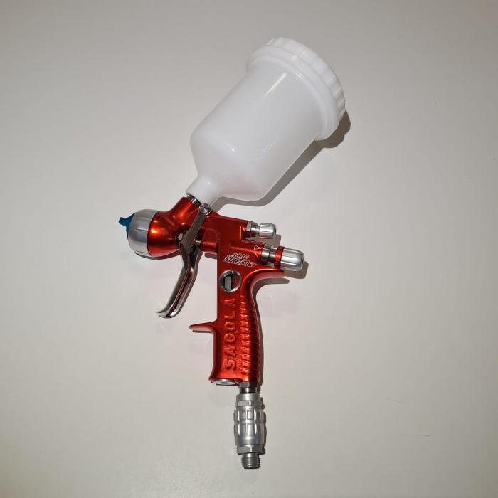 Pistol de vopsit, Sagola 4600 DVR AQUA, air cap DVR AQUA, cupa 650 g, duza 1.2 mm [9]