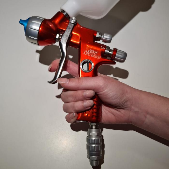 Pistol de vopsit, Sagola 4600 DVR AQUA, air cap DVR AQUA, cupa 650 g, duza 1.2 mm [6]