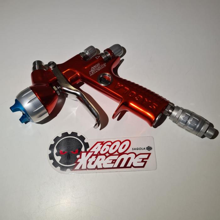 Pistol de vopsit, Sagola 4600 DVR AQUA, air cap DVR AQUA, cupa 650 g, duza 1.2 mm [2]