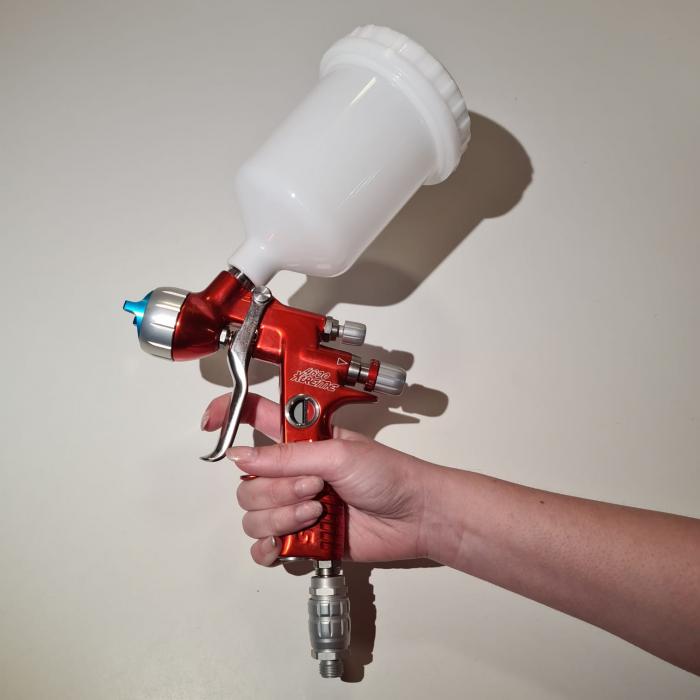 Pistol de vopsit, Sagola 4600 DVR AQUA, air cap DVR AQUA, cupa 650 g, duza 1.2 mm [5]
