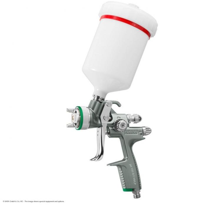 Pistol de vopsit SATAjet® 100 B F HVLP, duza la alegere, cana 600 ml [0]