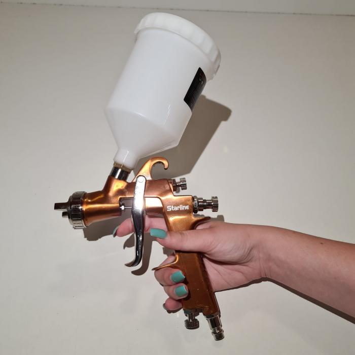 Pistol de vopsit Starline NP W400G cana plastic 0.6 litri duza 1.8 mm [2]