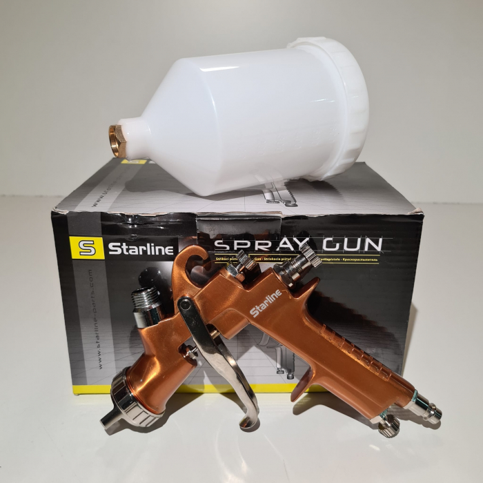 Pistol de vopsit Starline NP W400G cana plastic 0.6 litri duza 1.8 mm [1]