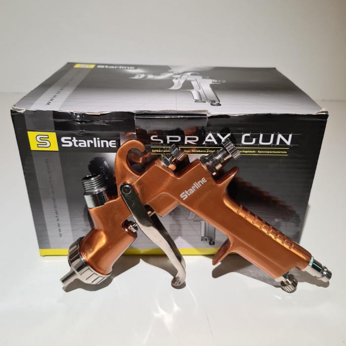 Pistol de vopsit Starline NP W400G cana plastic 0.6 litri duza 1.8 mm [3]