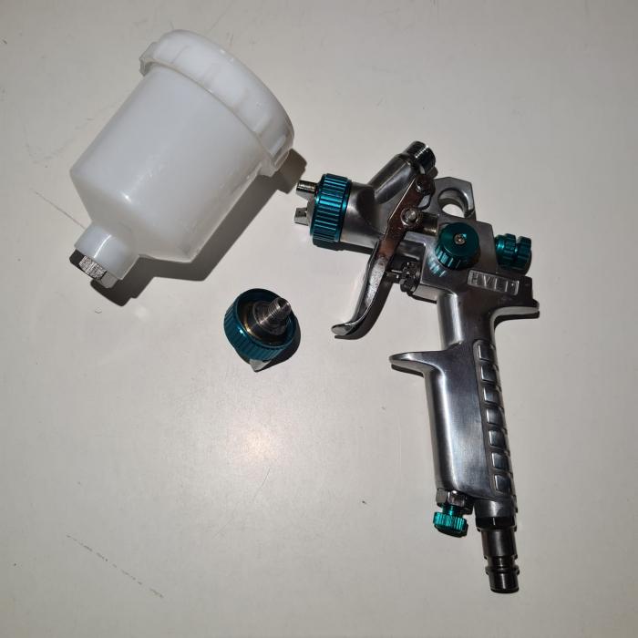 Pistol de vopsit pentru retus, STELS 57361, cana plastic 100 ml, duza 0.8 mm si 1.0 mm, consum aer 70- 100 l/min [4]