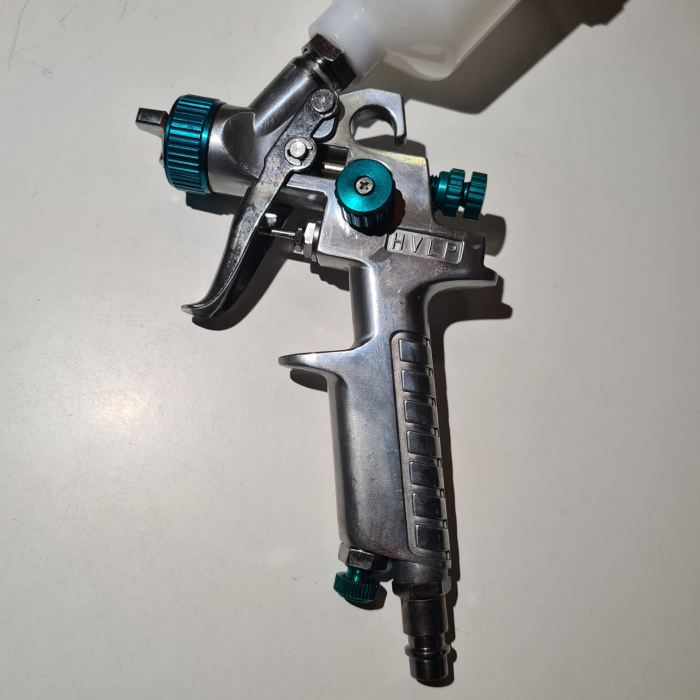 Pistol de vopsit pentru retus, STELS 57361, cana plastic 100 ml, duza 0.8 mm si 1.0 mm, consum aer 70- 100 l/min [2]