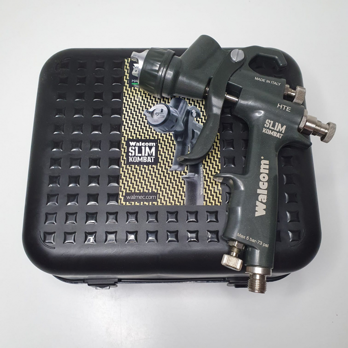 Pistol de vopsit, Walcom Slim KOMBAT HTE 8030xx,cupa plastic 600 ml, duza la alegere, valiza, regulator aer, consum aer incepand cu 250 l/min [17]