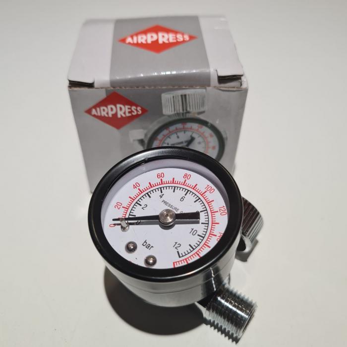 Regulator de presiune aer cu manometru mecanic, Airpress 45748-R, montare pe furtun, cupla 1/4, maxim 10 bar [6]