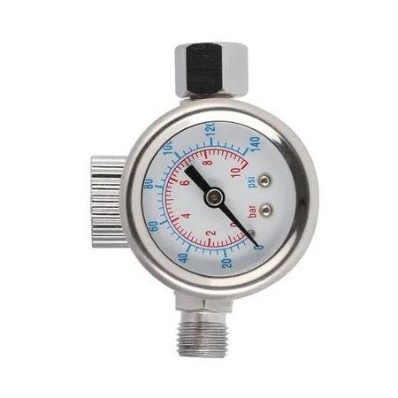 Regulator de presiune aer cu manometru mecanic, Airpress 45748-R, montare pe furtun, cupla 1/4, maxim 10 bar [0]