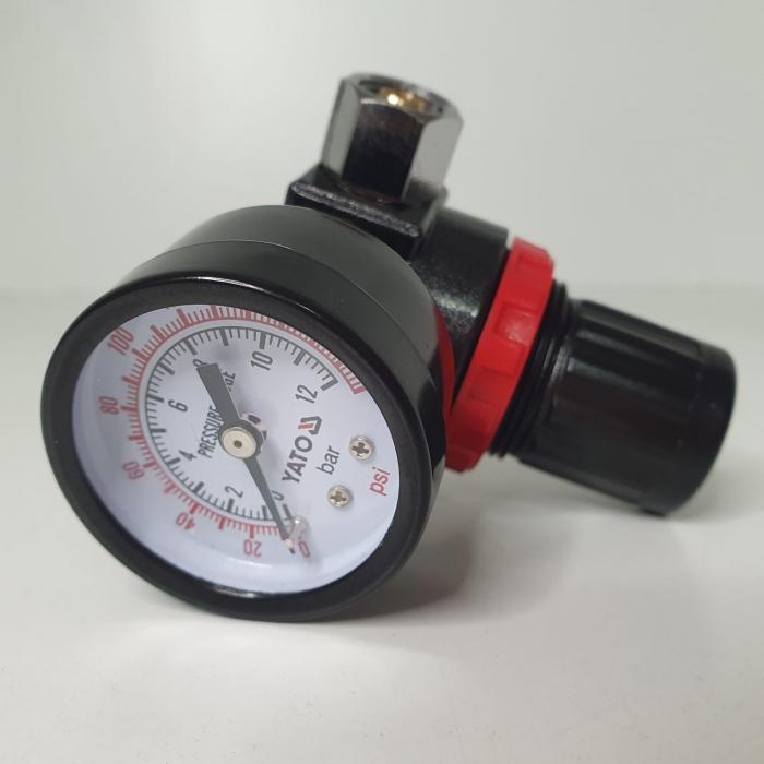 Regulator de presiune  cu manometru mecanic,Yato YT-2381, montare pe furtun [3]