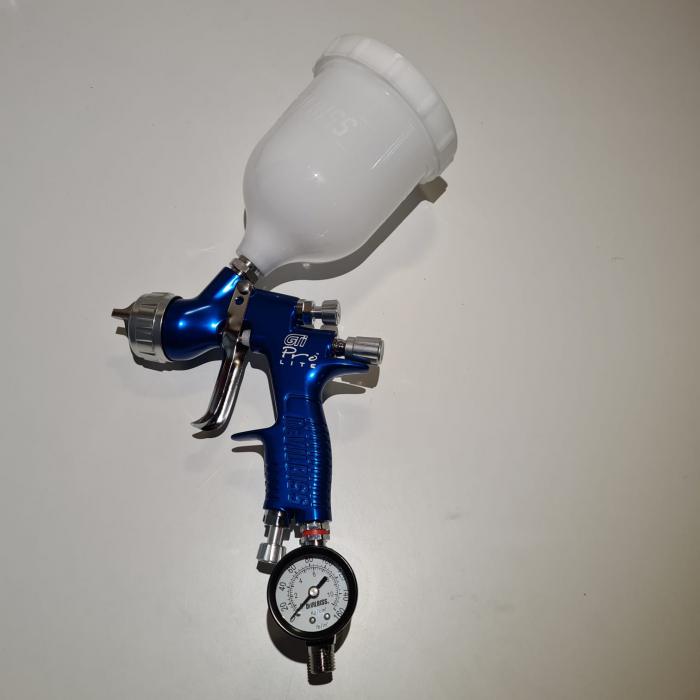 Regulator de presiune aer cu manometru mecanic, DeVilbiss HAV-501, montare pe furtun, cupla 1/4, maxim 11 bar 3