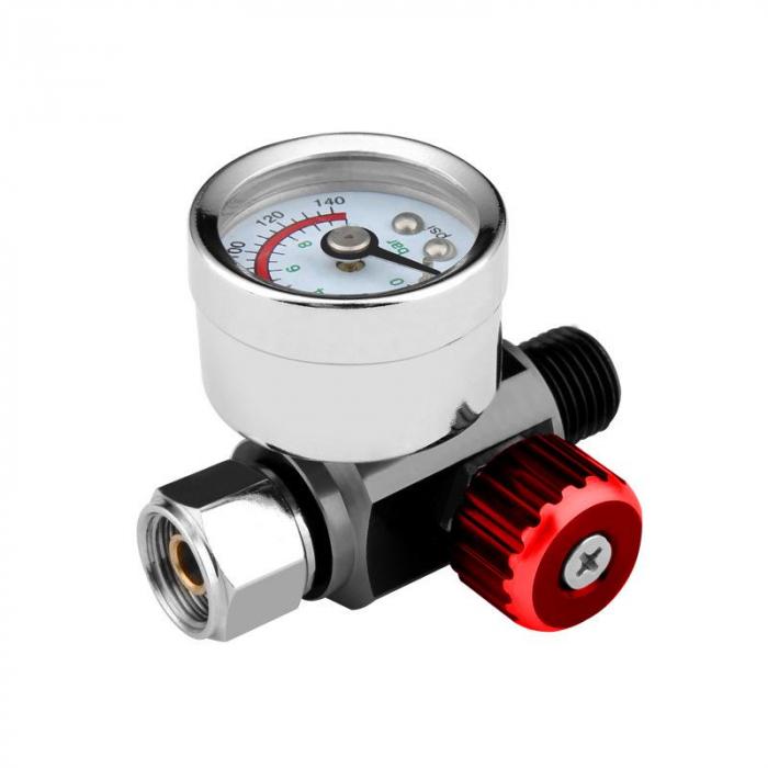Regulator de presiune aer cu manometru mecanic, ZRBI656, montare pe furtun, cupla 1/4, maxim 10 bar [1]