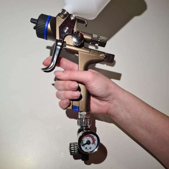 Regulator de presiune aer cu manometru mecanic, Finixa SPG 920, montare pe furtun, cupla 1/4, maxim 10 bar [2]