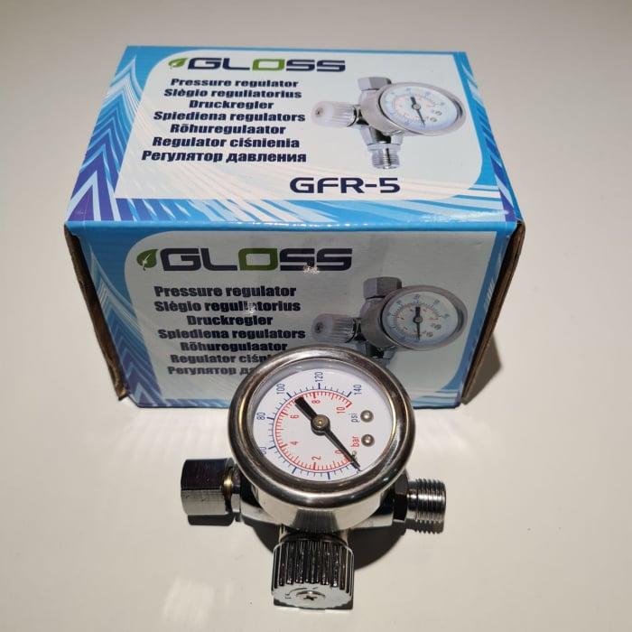 Regulator de presiune aer cu manometru mecanic, Gloss GFR-5, montare pe furtun, cupla 1/4, maxim 10 bar [3]