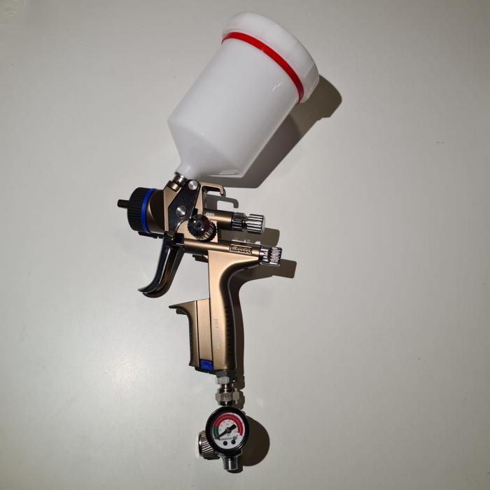 Regulator de presiune aer cu manometru mecanic, Sagola RC2, montare pe furtun, cupla 1/4, maxim 10 bar [3]