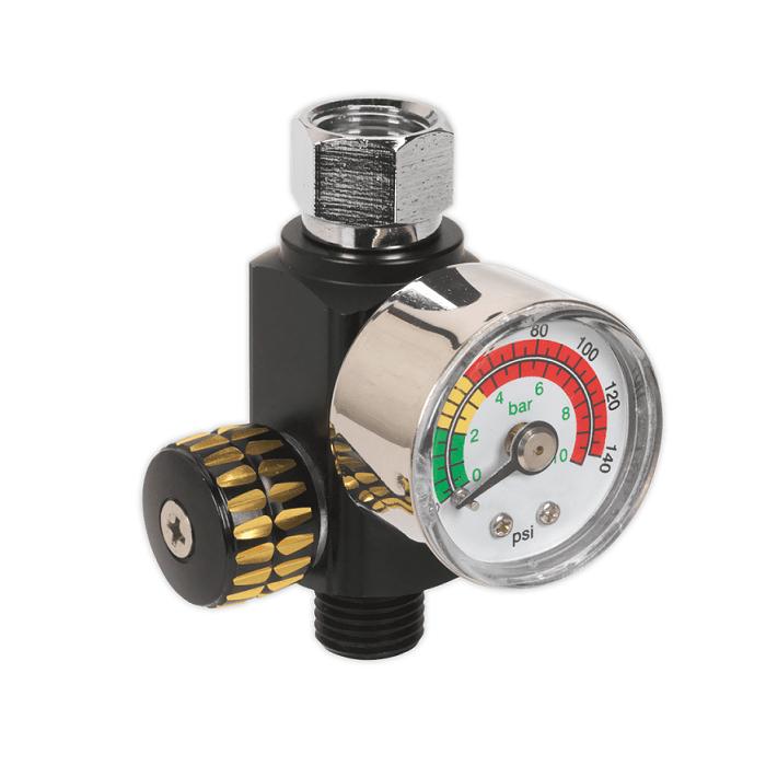 Regulator de presiune aer cu manometru mecanic,Sealey AR01, montare pe furtun, cupla 1/4, maxim 10 bar [0]