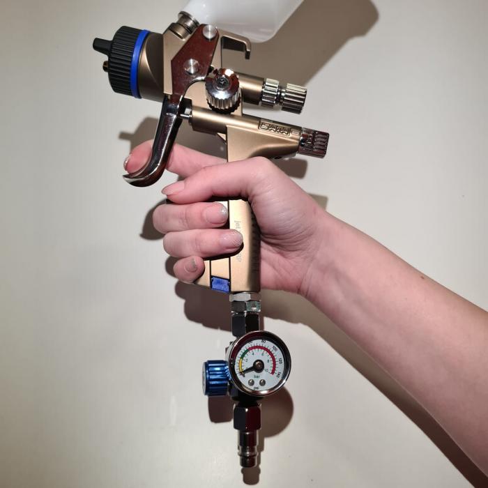 Regulator de presiune aer cu manometru mecanic, ZRBI656, montare pe furtun, cupla 1/4, maxim 10 bar [3]
