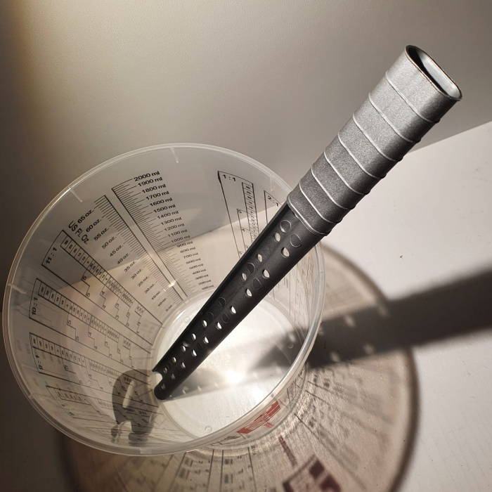 Rigla de mixat vopsea, Finixa MPP 0200, rezistente la solvent, forma in S, lungime 30cm, 1 bucata 2