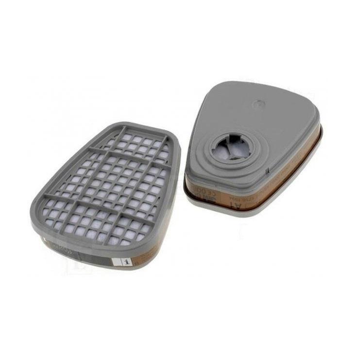 Filtre pentru masca 3M™ 6055 protectie A2, protejează împotriva gazelor și a vaporilor organici (set 2 filtre) 0