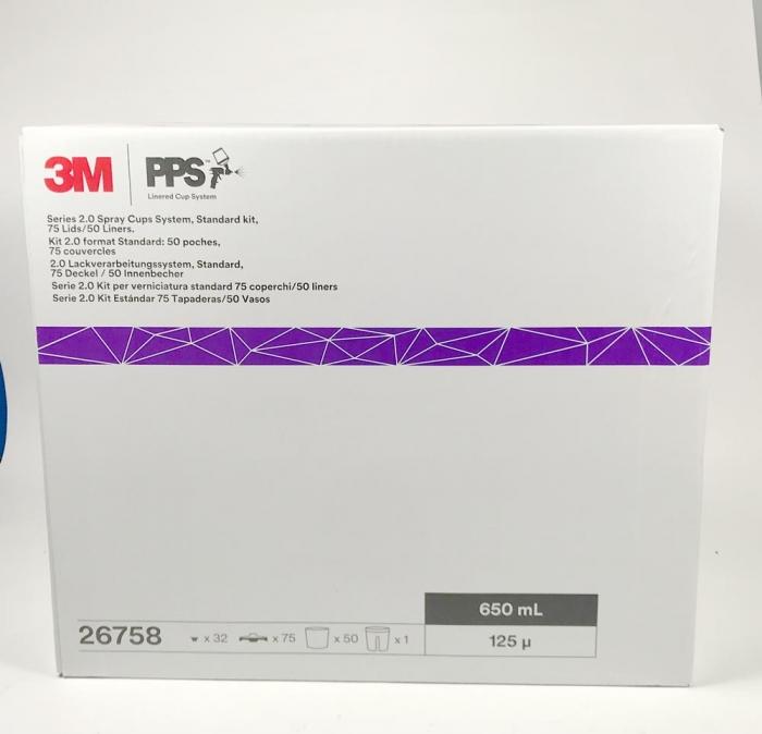 Sistem aplicat vopseaua 3M™ PPS™ Series 2.0 50 pungi 650 ml + 75 filtre 125 microni 0