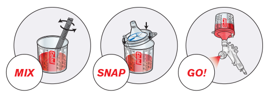 Sistem aplicat vopseaua Snap Lid System® Colad 50 pahare + 50 filtre 11