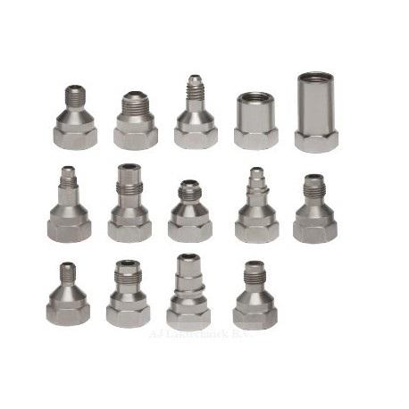 Sistem aplicat vopseaua Snap Lid System® Colad adaptori pentru diferite pistoale de vopsit 0