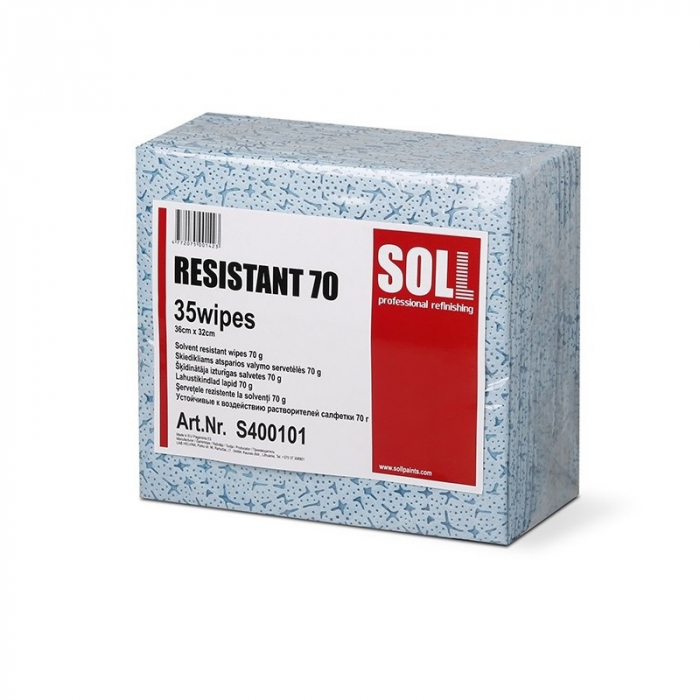 Laveta degresat SOLL RESISTANT 70, dimensiune 36 x 32 cm, rezistente la solvent, greutate 70.0g/m² [0]
