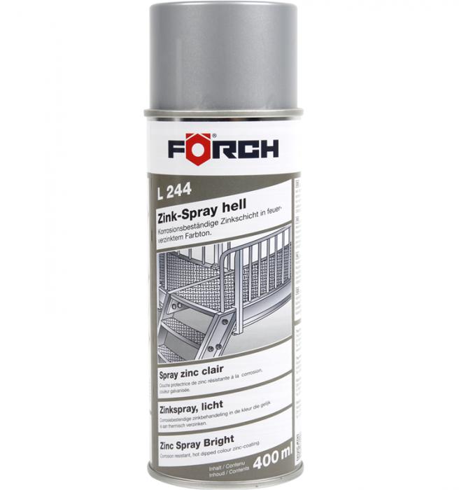 Spray de zinc, Forch L244, culoare deschisa, cantitate 400ml [0]