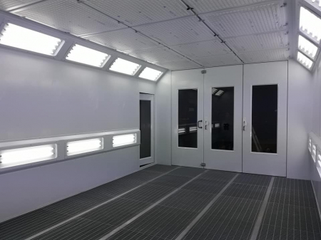 Cabina de vopsit completa, FAM Sylver 7200, arzator motorina RIELLO, dimensiune interioara 7200 x 4000 x 2800 mm, debit de aer: 20000 m3 / h [6]