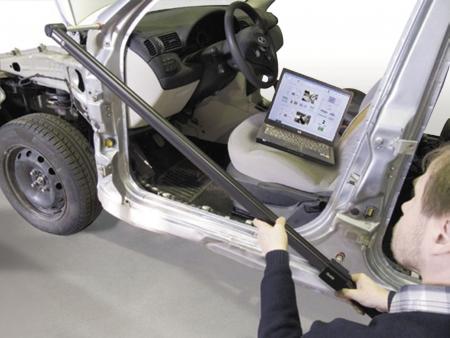 Rigla pentru masurare caroserie, Astra 2D T-MAC AB7000®, material aluminiu, valiza transport, software2