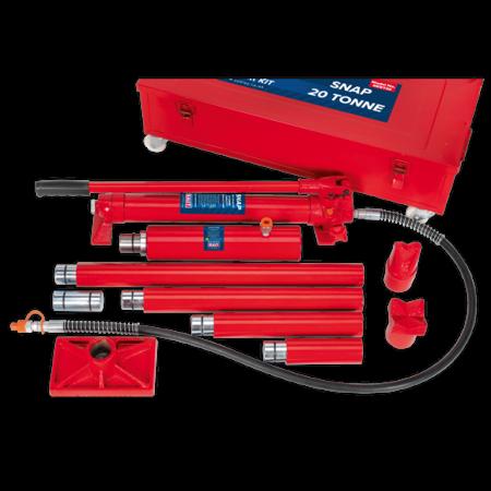 Set presa hidraulica 20T si accesorii pentru tinichigerie1