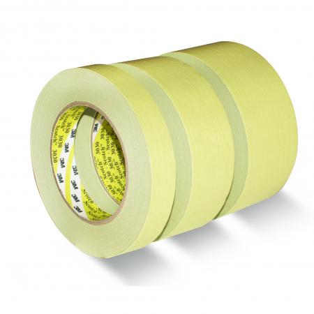 Banda mascare hartie 3M 3030 Scotch®, rezista pana la 100 °C, culoare verde, lungime 50 metri [0]